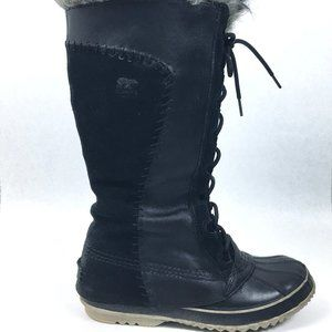 Sorel Cate The Great Black Tall Lace Up Boots